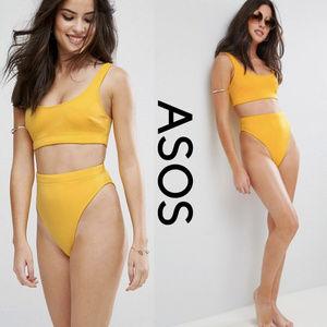 ASOS Bikini Crop Top High Waisted Set
